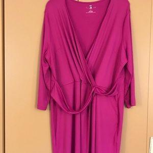 Talbot's 1X pink knit dress NWOT
